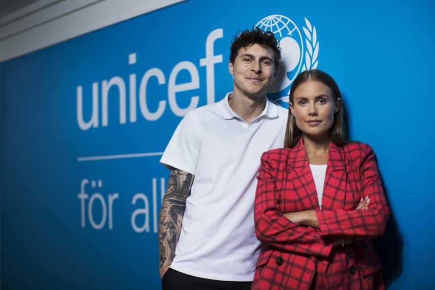 Victor och Maja Nilsson Lindelöf är UNICEF Sveriges nya ambassadörer