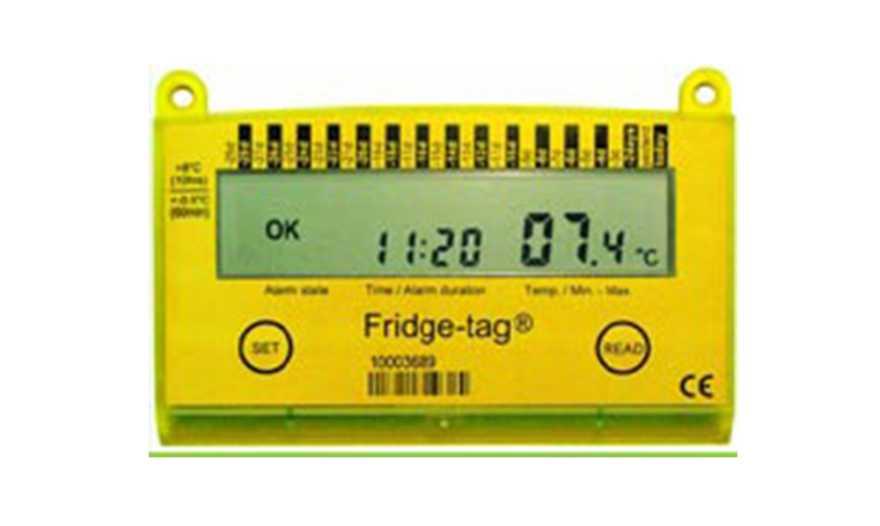 En gul termometer.