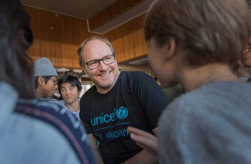 Morgan Alling är UNICEF-ambassadör sedan 2019.